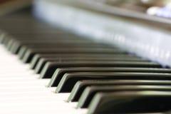 Tasti di tastiera dell'organo elettronico Fotografie Stock Libere da Diritti