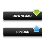 Tasti di upload e di trasferimento dal sistema centrale verso i satelliti Illustrazione Vettoriale