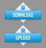 Tasti di upload e di trasferimento dal sistema centrale verso i satelliti Immagini Stock Libere da Diritti