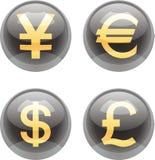 Tasti di valuta Fotografia Stock