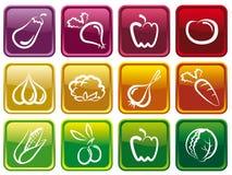 Tasti di verdure Immagini Stock