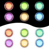 Tasti di vetro al neon Fotografia Stock