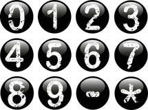 Tasti di Web con i numeri Fotografie Stock