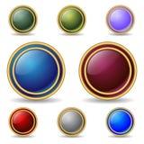Tasti di Web con l'anello di oro Fotografia Stock