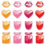 Tasti di Web del biglietto di S. Valentino Immagini Stock Libere da Diritti