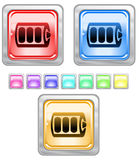 Tasti di Web di colore. Immagine Stock