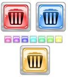 Tasti di Web di colore. Fotografie Stock