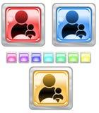 Tasti di Web di colore. Fotografia Stock