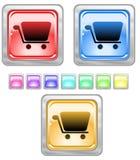 Tasti di Web di colore. Fotografie Stock Libere da Diritti