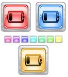 Tasti di Web di colore. Fotografia Stock Libera da Diritti