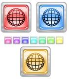 Tasti di Web di colore. Immagini Stock