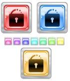Tasti di Web di colore. Immagini Stock Libere da Diritti