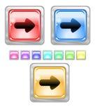 Tasti di Web di colore. Immagine Stock Libera da Diritti