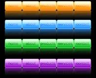 Tasti di Web site Fotografia Stock