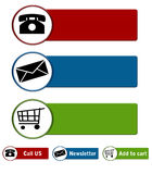 Tasti di Web site Immagini Stock Libere da Diritti