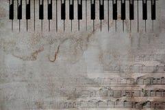 Tasti e note di musica Immagine Stock Libera da Diritti