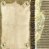 Tasti fissi della cordicella della tela da imballaggio Immagini Stock Libere da Diritti