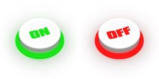 Tasti inserita/disinserita illustrazione vettoriale