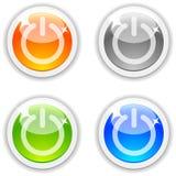 Tasti inserita/disinserita. Fotografia Stock