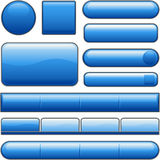 Tasti lucidi blu di Web site Fotografia Stock