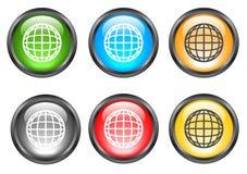 Tasti lucidi del Internet Immagine Stock Libera da Diritti