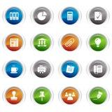 Tasti lucidi - icone di affari e dell'ufficio Immagine Stock