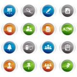 Tasti lucidi - icone di affari e dell'ufficio Immagine Stock Libera da Diritti
