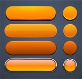 Tasti moderni alto-dettagliati arancioni di Web. Immagini Stock