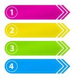 Tasti numerati di Web site con la freccia Fotografie Stock