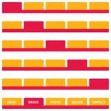 Tasti o tabulazione di Web in arancio   Immagine Stock