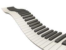Tasti ondulati del piano Fotografie Stock Libere da Diritti
