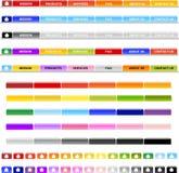 Tasti orizzontali del menu Fotografia Stock