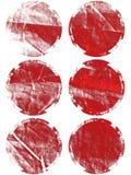 Tasti pastelli di burst dell'indicatore luminoso impostati Immagine Stock Libera da Diritti