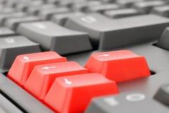 Tasti rossi Fotografie Stock
