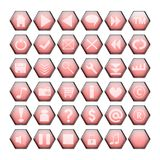Tasti rossi di Web illustrazione di stock