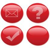 Tasti rossi di Web Immagine Stock