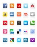 Tasti sociali 1 di media Fotografia Stock Libera da Diritti