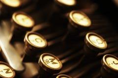 Tasti tedeschi della macchina da scrivere Immagine Stock