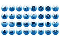 Tasti utili di Web in aqua Immagine Stock Libera da Diritti