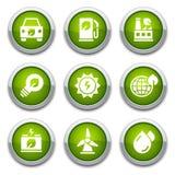 Tasti verdi di ecologia Immagini Stock