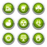 Tasti verdi di ecologia Fotografia Stock