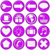 Tasti viola vetrosi di Web site Fotografia Stock Libera da Diritti