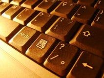 Tastiera 2 del computer portatile Fotografie Stock Libere da Diritti