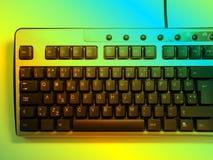 Tastiera al neon Fotografie Stock Libere da Diritti