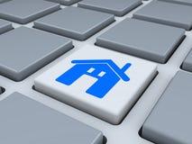 Tastiera astratta con il bottone del homepage illustrazione di stock