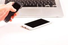 Tastiera astuta dell'orologio, del telefono e di computer Immagine Stock