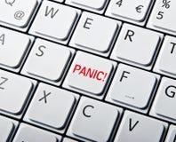 Tastiera bianca con il tasto di panico Fotografia Stock