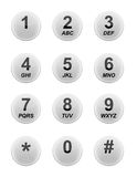 Tastiera bianca del telefono Fotografie Stock