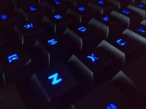 Tastiera blu Fotografia Stock Libera da Diritti