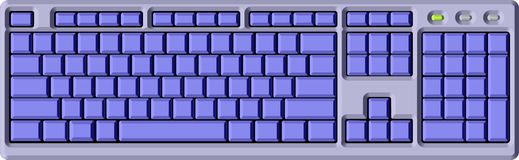 Tastiera blu Immagine Stock